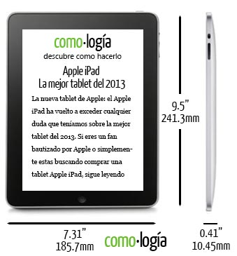apple ipad dimensiones tamano