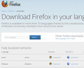 como cambiar el idioma de Firefox