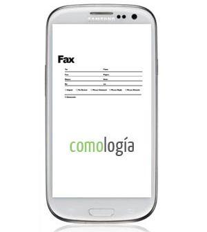 recibir o enviar un fax en el celular
