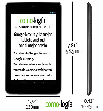 nexus 7 tablet dimensiones