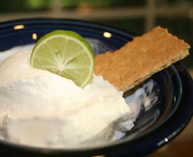 helado bajo en calorías de limon