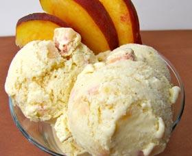 receta de helado saludable de durazno