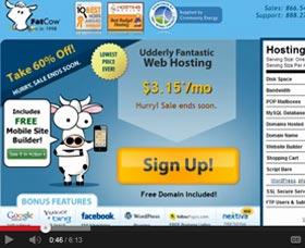 hosting ilimitado de fatcow para un sitio web de internet