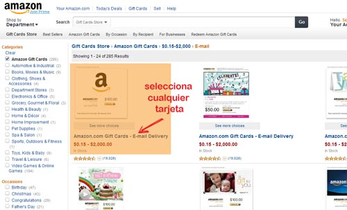 comprar gift card amazon en venezuela