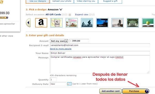 comprar certificado de regalo amazon desde venezuela