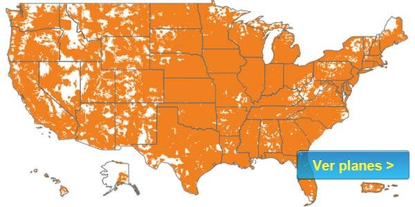 Boost mapa de cobertura companias de moviles
