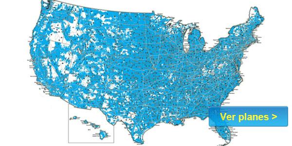FreedomPop mapa de cobertura compañías servicio celular