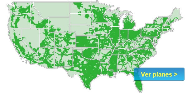 Republic Wireless mapa de cobertura senal compania estados unidos