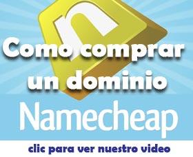 como comprar un dominio namecheap