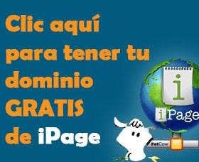 comorar tener dominios gratis con ipage