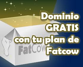 dominios gratis con tu plan de hosting de fatcow