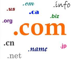 extensiones de dominios para un sitio web