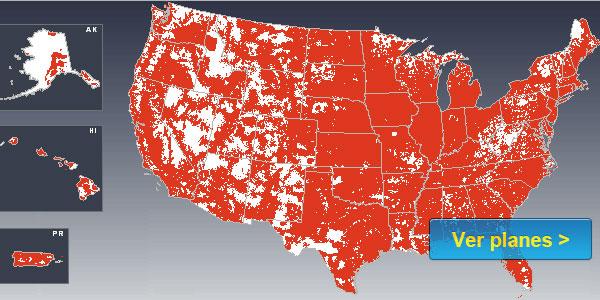 mapa de cobertura Virgin Mobile compania de moviles usa