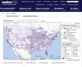 mapa de cobertura metro pcs