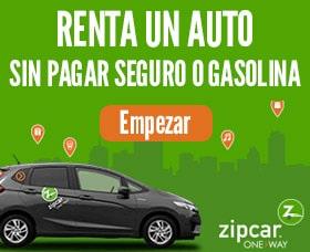 Alquiler de autos baratos: Zipcar