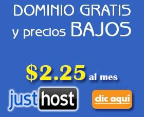 alojamiento con dominio gratis justhost hosting con dominio gratis
