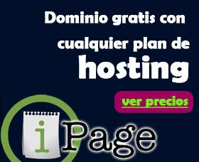 hosting barato ipage alojamiento gratis dominio gratis