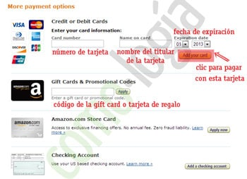 comprar amazon fuera de estados unidos metodos de pago en amazon