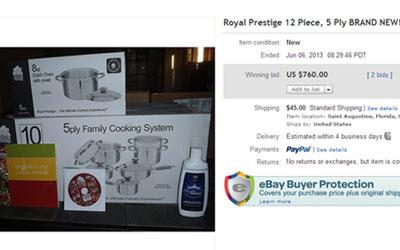 precio de las ollas royal prestige