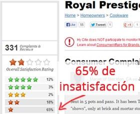 precios de ollas royal prestige clientes insatisfechos de royal prestige