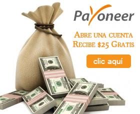 abrir cuenta payoneer 25 dolares gratis tarjeta mastercard