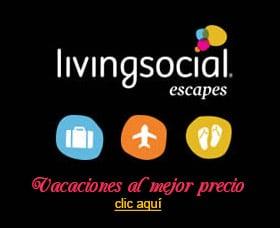 cupones para viajes vacaciones vuelos de avion living social