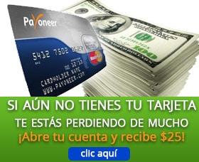 tarjeta payoneer pedir tarjera payoneer por internet