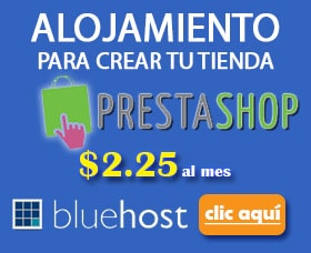 alojamiento prestashop bluehost mejor hosting prestashop barato