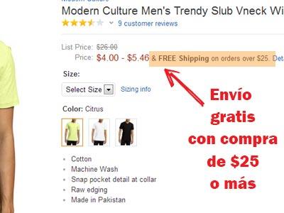 envios gratis amazon con 25 dolares o mas comprar en amazon
