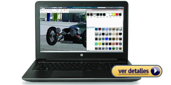 HP ZBook Studio G4 DreamColor laptop para diseño gráfico