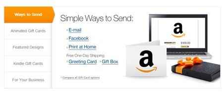 comprar gift card de amazon modo de envio email facebook imprimir enviar