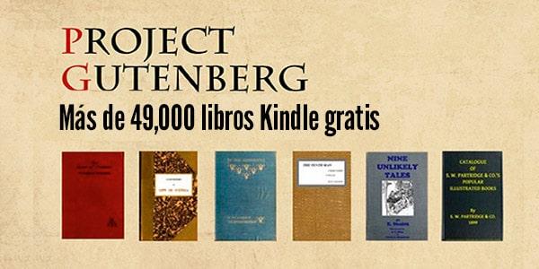 libros Kindle gratis legalmente proyect gutemberg