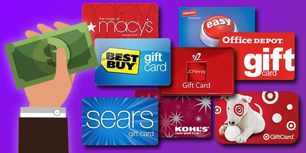 dónde comprar tarjetas de regalo baratas