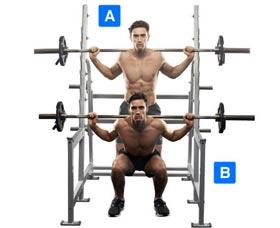 ejercicios para perder grasa sentadillas con barra