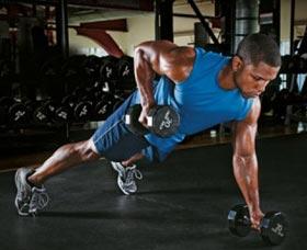 remo inverso con pesas ejercicios para quemar grasa