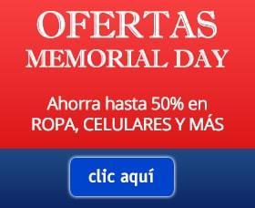 ofertas memorial day cupones