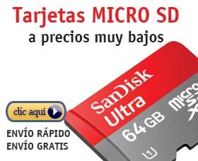 camara gopro tarjetas micro sd