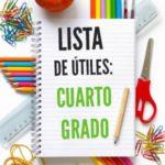 Lista de útiles escolares de cuarto grado (4to grado)
