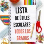 Lista de útiles escolares: Mejores precios para todos los grados