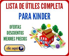 lista de utiles escolares para kinder regreso a clases