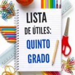 Lista de útiles escolares de quinto grado (5to grado)