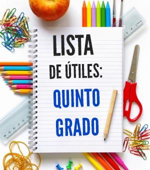 Lista De útiles Escolares De Quinto Grado 5to Grado