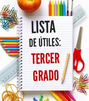 lista de utiles escolares tercer grado 3er grado