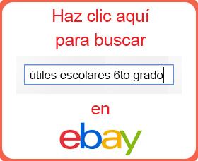 lista de útiles escolares 6to grado sexto ebay