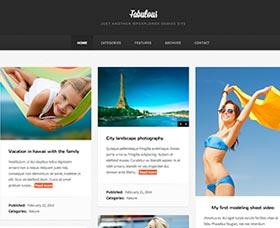 Mejor plantilla WordPress para un blog de fotografía: Fabulous