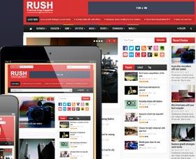 Mejores Plantillas WordPress para revistas: Rush