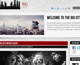 Mejores plantillas WordPress: Big City