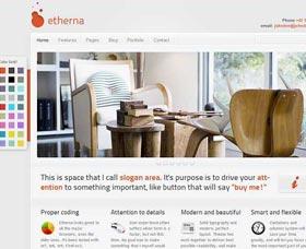 Mejores plantillas WordPress Etherna