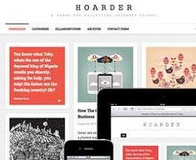 Mejores plantillas WordPress: Hoarder