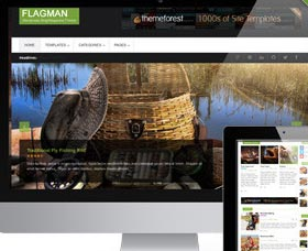 Mejores plantillas WordPress blog: Flagman